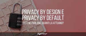 privacy by default e privacy by design